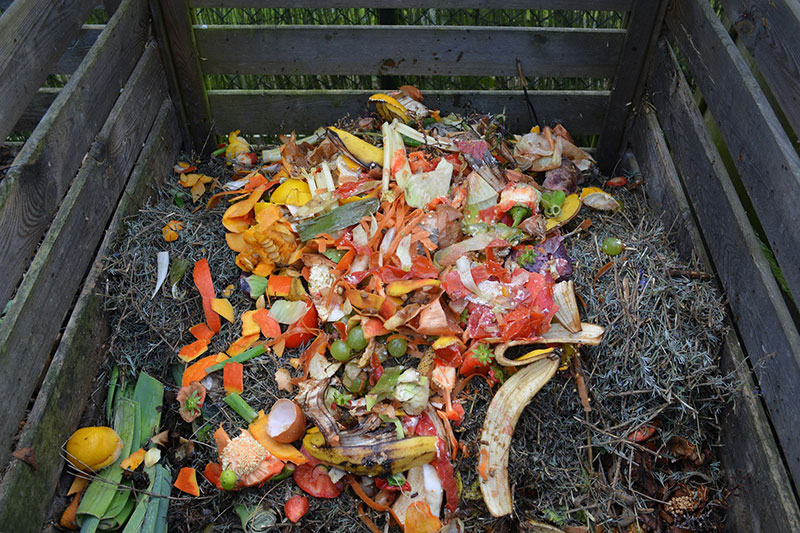 Composted yard waste
