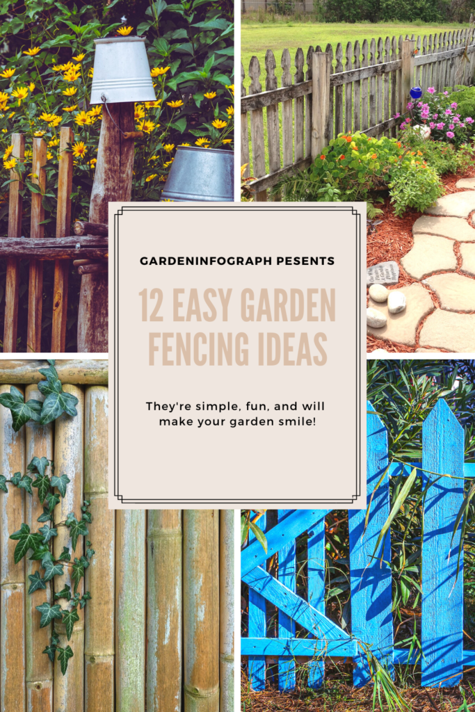 12 easy garden fencing ideas